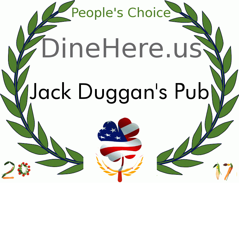 Jack Duggan's Pub DineHere.us 2017 Award Winner